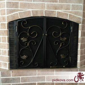 Каминные кованые дверца