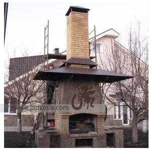 Кованая крыша над мангалом Жатка