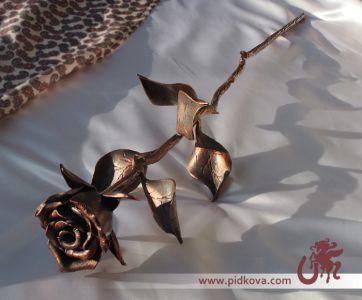 кованая стальная роза
