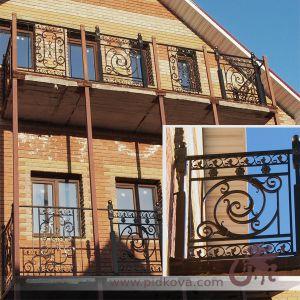 Кованые перила на балкон (профтруба)
