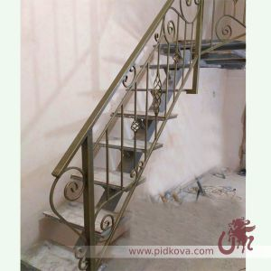 Кованые лестничные перила 20