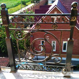 Кованые перила балконные