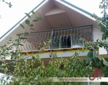 кованые художественные балконные перила