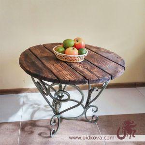 Кованый стол круглый