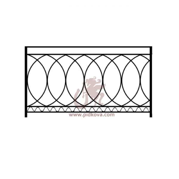 Перила на балкон sb-01