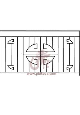 Перила на балкон sb-02