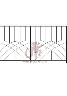 Перила на балкон sb-03