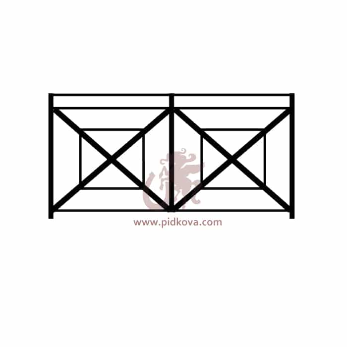Перила на балкон sb-09