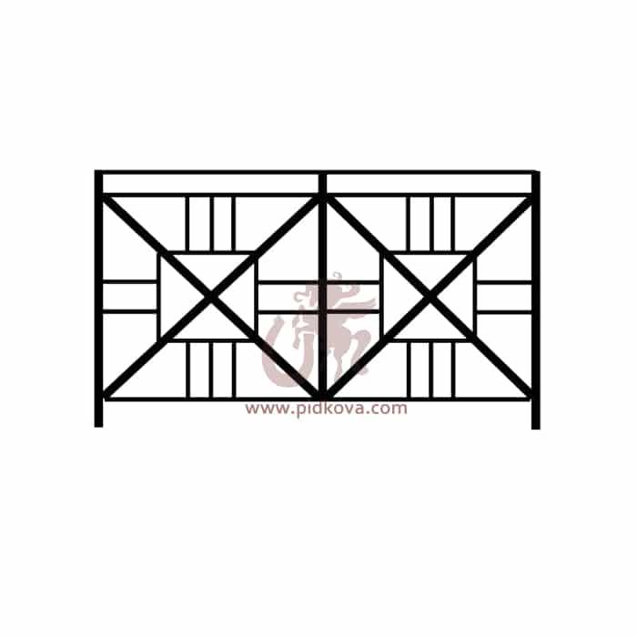 Перила на балкон sb-12
