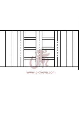 Перила на балкон sb-18