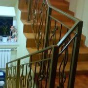 Кованые перила на лестницу под заказ