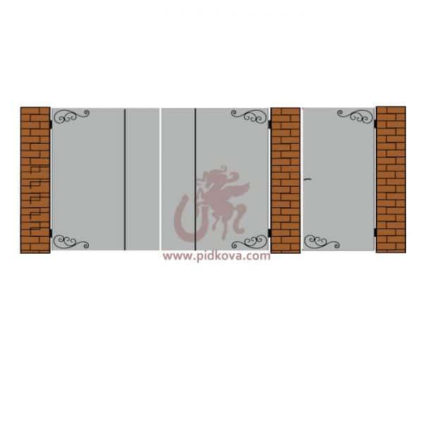 Кованые ворота lv01