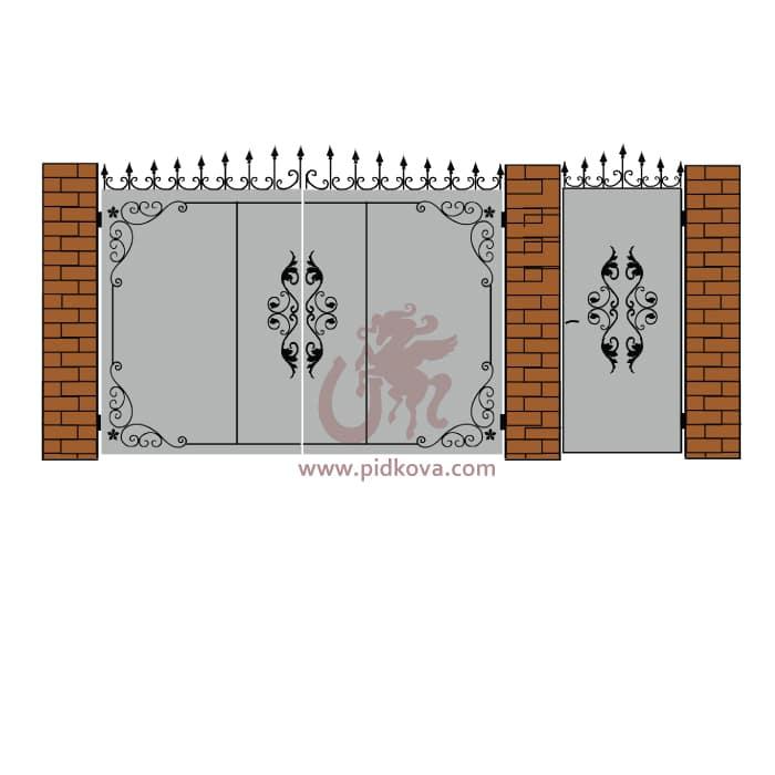 Кованые ворота lv07