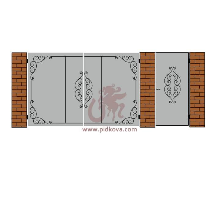 Кованые ворота lv-08