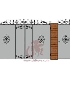 Кованые ворота lv-09