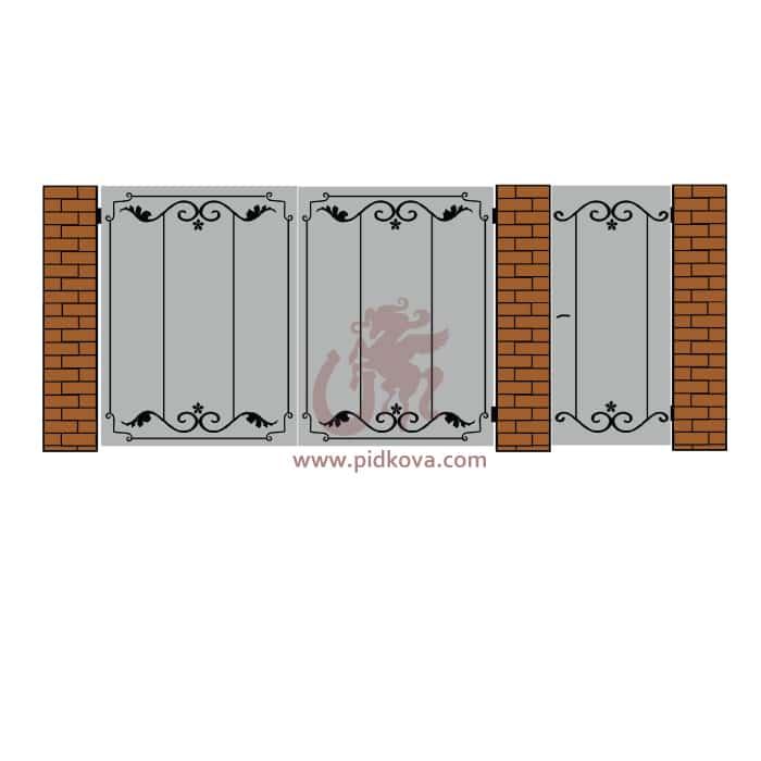 Кованые ворота lv-12
