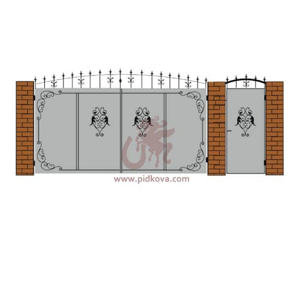 Кованые ворота lv-13
