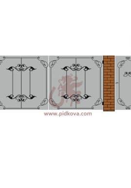 Кованые ворота lv-14