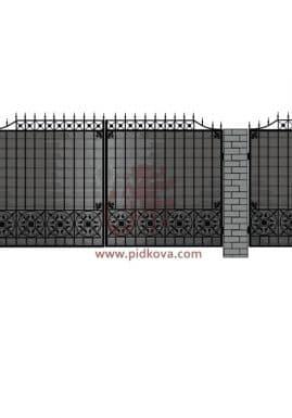 Кованые ворота pro04