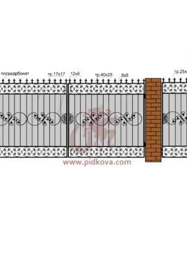 Кованые ворота РЭ-01