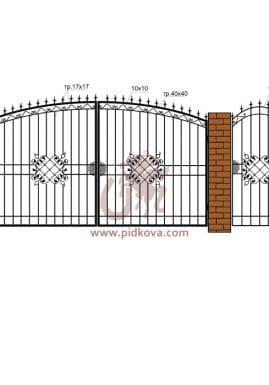 Кованые ворота РЭ02