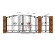 Кованые ворота РЭ-03