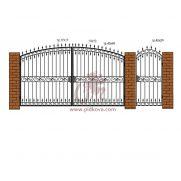 Кованые ворота РЭ-04