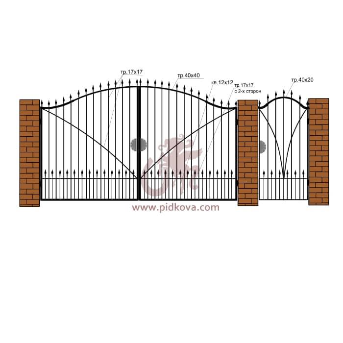 Кованые ворота РЭ06