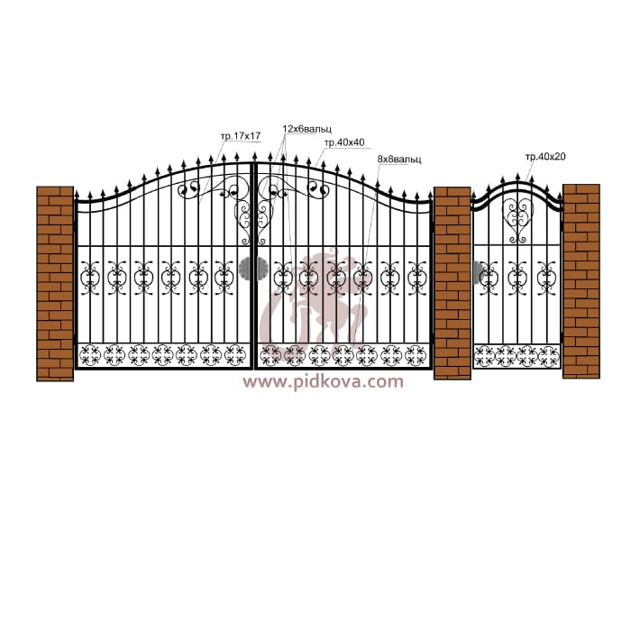 Кованые ворота РЭ07