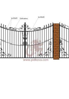 Кованые ворота РЭ-08
