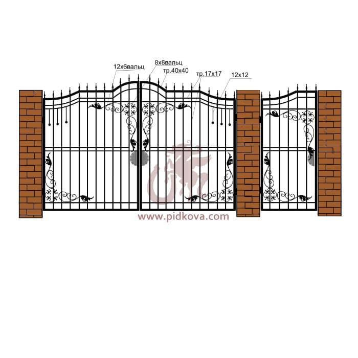 Кованые ворота РЭ-09