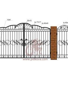 Кованые ворота РЭ-10