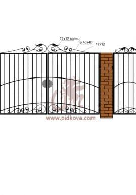 Кованые ворота РЭ-11
