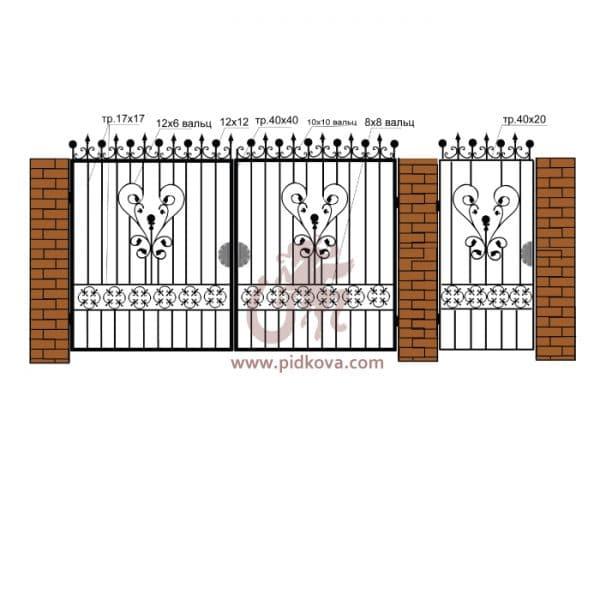 Кованые ворота РЭ12