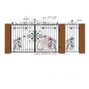 Кованые ворота РЭ13