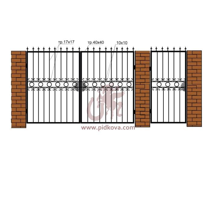 Кованые ворота РЭ14