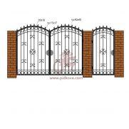 Кованые ворота РЭ15