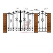 Кованые ворота РЭ16