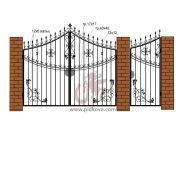 Кованые ворота РЭ17