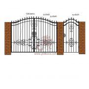 Ворота с калиткой РЭ18