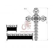 Кованый крест с гробницей 4