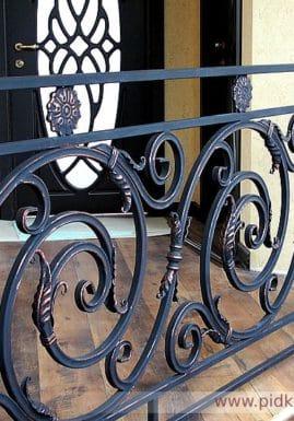 кованое балконное ограждение под заказ