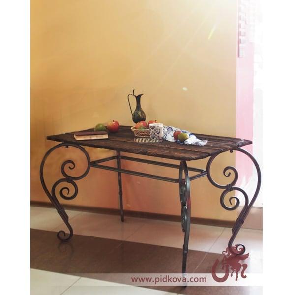 Кованый стол, труба 20х20