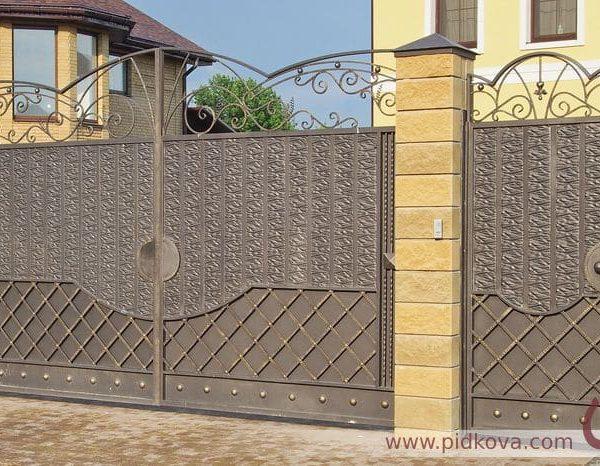 кованые ворота Жатка изготовление