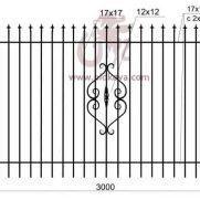 забор кованый z2-01