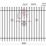 Кованый забор z2-02