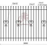 Кованый забор z2-03