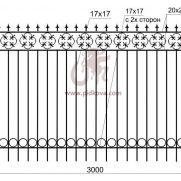 Кованый забор z2-04
