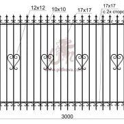 Кованый забор z2-05