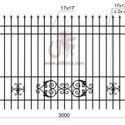 Кованый забор z2-07